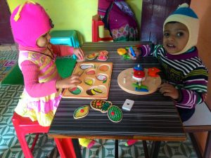 Eye-hand co-ordination activity at SwavalambanRehab