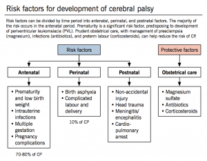 risk factors of cerebral palsy